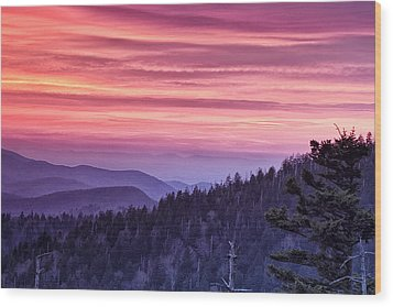 Smoky Mountain Evening Wood Print by Andrew Soundarajan