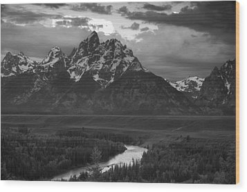 Snake River In The Tetons Wood Print by Andrew Soundarajan