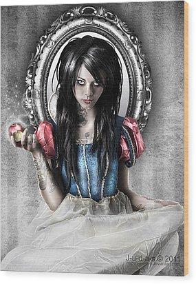 Snow White Wood Print by Judas Art