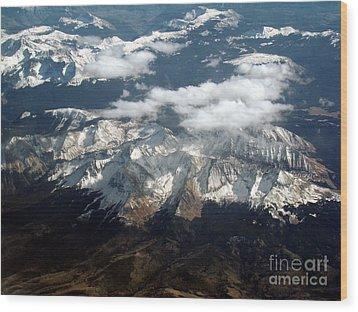 Snowcapped Mountains Wood Print by Eva Kato