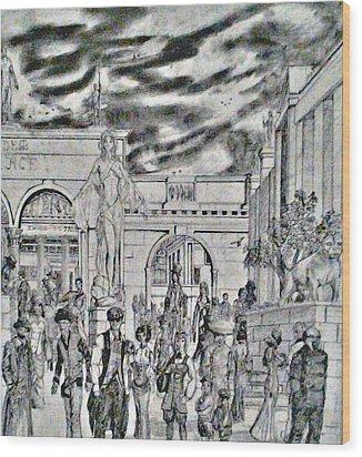 Sodom Marketplace   Wood Print by George Harrison