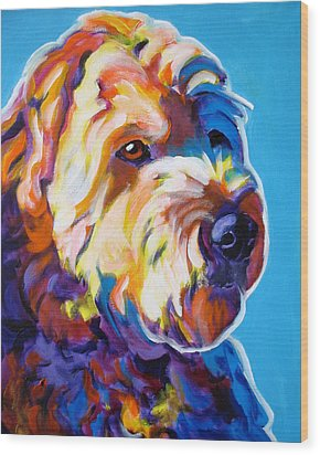 Soft Coated Wheaten Terrier - Max Wood Print by Alicia VanNoy Call