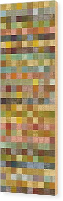 Soft Palette Rustic Wood Series Collage Lll Wood Print by Michelle Calkins