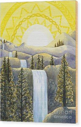 Solar Plexus Chakra Wood Print by Catherine G McElroy