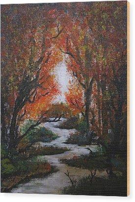 Solitude Wood Print by Erik Coryell