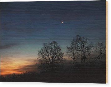 Solstice Moon Wood Print by Bill Wakeley
