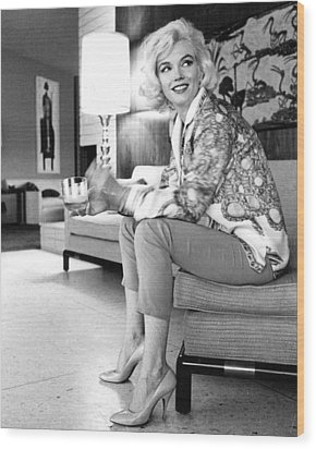 Marilyn Monroe  Wood Print by Retro Images Archive