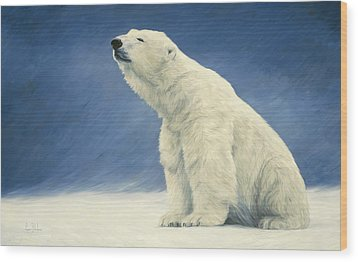 Something In The Air Wood Print by Lucie Bilodeau