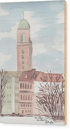 Somewhere In Berlin Wood Print by Catalina Velasquez