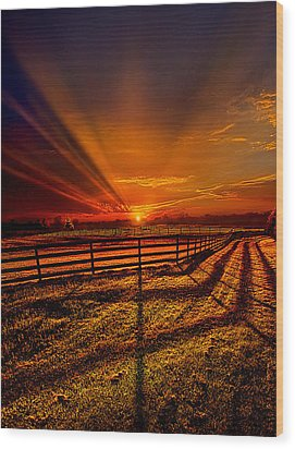 Song Of The Setting Sun Wood Print by Phil Koch