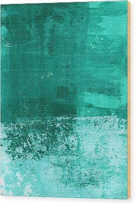 Soothing Sea - Abstract Painting Wood Print by Linda Woods