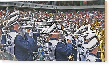Sounds Of College Football Wood Print by Tom Gari Gallery-Three-Photography