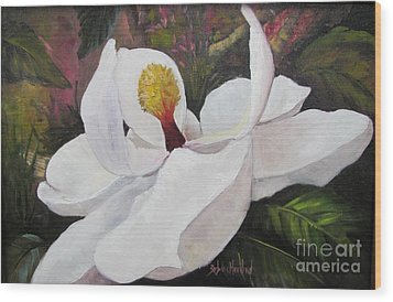 Southern Magnolia Wood Print by Barbara Haviland