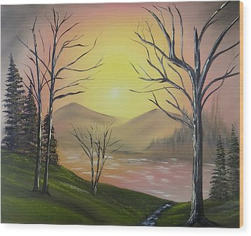 Southwest Sunrise Wood Print by Kevin  Brown