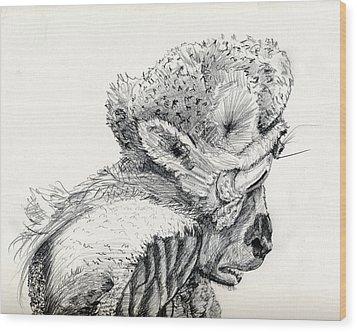 Space Alien Wood Print by Whistler Kenworthy