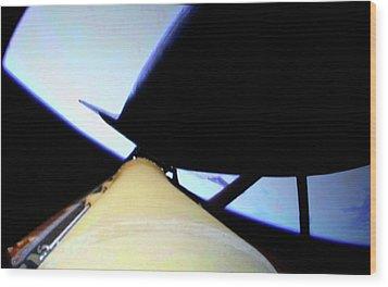 Space Shuttle In Orbit Wood Print by Detlev Van Ravenswaay