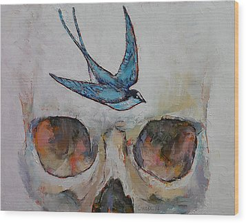 Sparrow Wood Print by Michael Creese