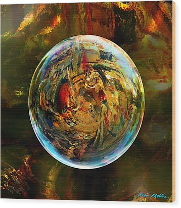 Sphere Of Refractions Wood Print by Robin Moline
