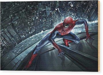 Spider Man 210 Wood Print by Movie Poster Prints