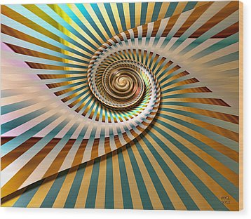 Spin Wood Print by Manny Lorenzo