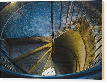 Spiral Into The Light Wood Print by Jeff Ortakales