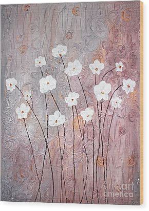 Spiral Whites Wood Print by Home Art