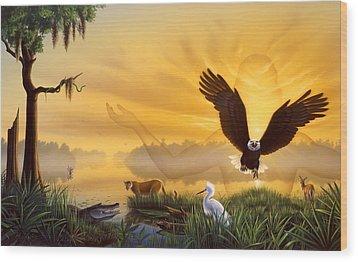 Spirit Of The Everglades Wood Print by Jerry LoFaro