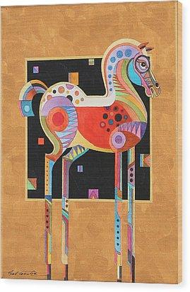 Spirit Stallion II Wood Print by Bob Coonts