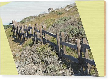 Split Rail Fence Yellow Wood Print by Barbara Snyder