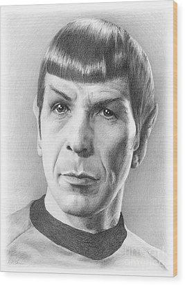 Spock - Fascinating Wood Print by Liz Molnar