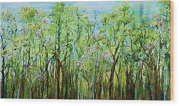 Spring Arpeggio Wood Print by Regina Valluzzi