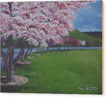 Spring Blossoms Wood Print by Monica Veraguth