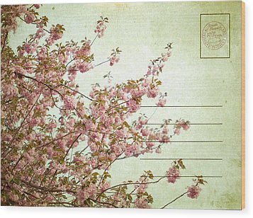 Spring Floral Wood Print by June Marie Sobrito