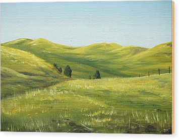 Spring In California Wood Print by AnnaJo Vahle