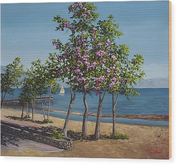 Spring In Kings Beach Lake Tahoe Wood Print by Darice Machel McGuire