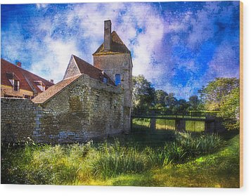 Spring Romance In The French Countryside Wood Print by Debra and Dave Vanderlaan