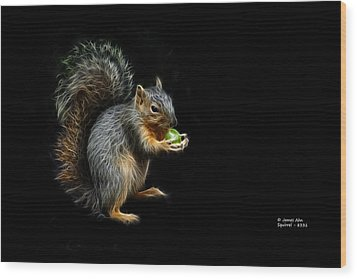Squirrel - 8331 - F Wood Print by James Ahn