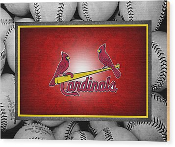 St Louis Cardinals Wood Print by Joe Hamilton
