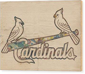 St Louis Cardinals Poster Art Wood Print by Florian Rodarte