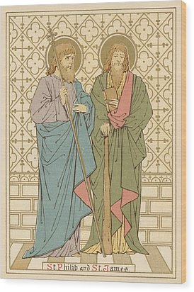 St Philip And St James Wood Print by English School