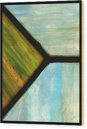 Stained Glass 6 Wood Print by Tom Druin