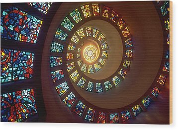 Stained Glass Wood Print by Gianfranco Weiss