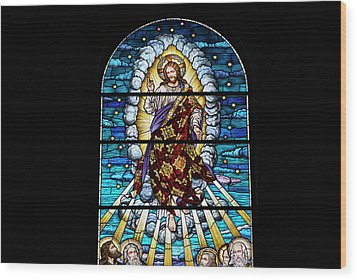 Stained Glass Pc 02 Wood Print by Thomas Woolworth