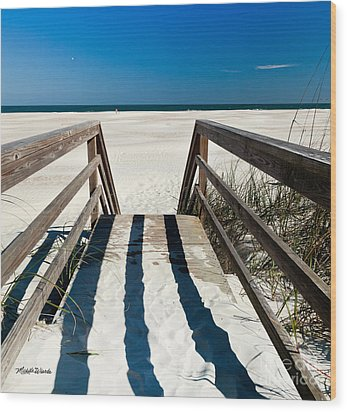Stairway To Happiness And Possibilities Wood Print by Michelle Wiarda