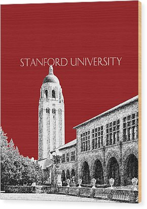 Stanford University - Dark Red Wood Print by DB Artist