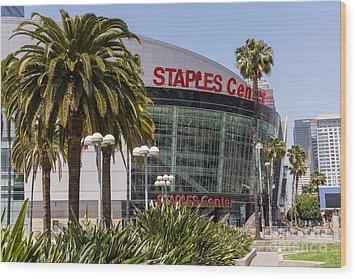 Staples Center In Los Angeles California Wood Print by Paul Velgos