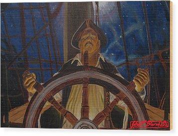 Star Pirates Wood Print by John Paul Blanchette