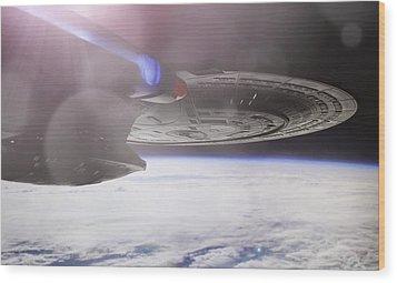 Star Trek - A New Civilization Wood Print by Jason Politte