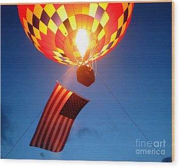 Stars And Stripes Glow Wood Print by Paul Anderson