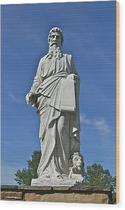 Statue 01 Wood Print by Thomas Woolworth